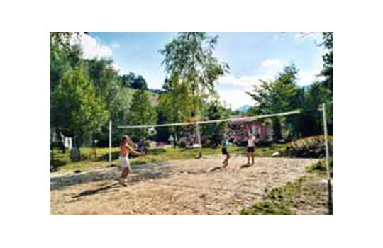 Le terrain de volley